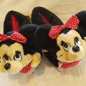 NEW - Vintage 70s Minnie Mouse Slippers